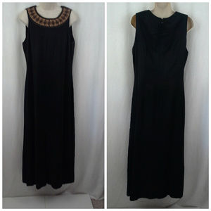 Carole Little womens dress Sz 14 Dark brown Sheath